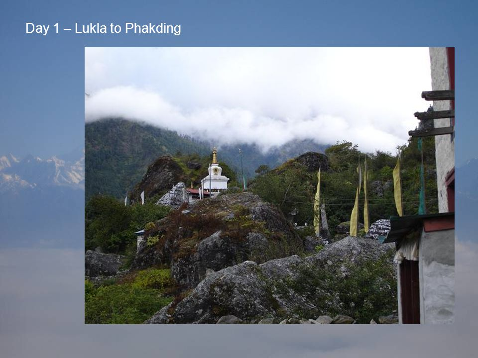 Day 1 – Lukla to Phakding