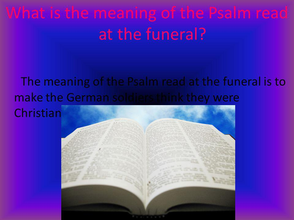 What is in the casket.