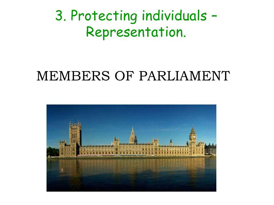 3. Protecting individuals – Representation. MEMBERS OF PARLIAMENT