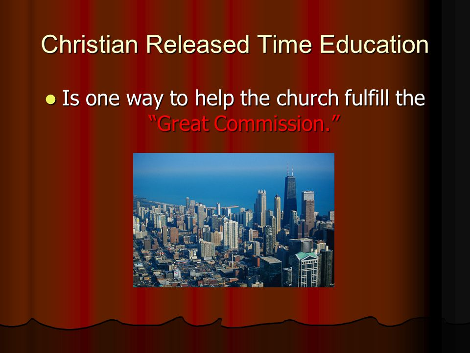What is Christian Released Time Education.