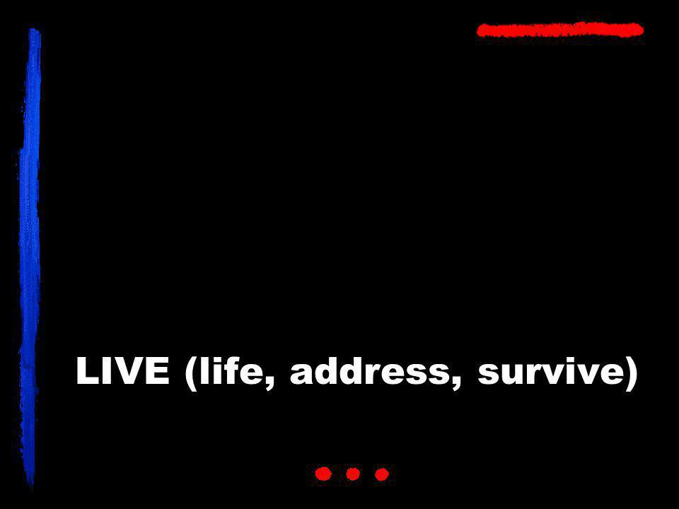 LIVE (life, address, survive)