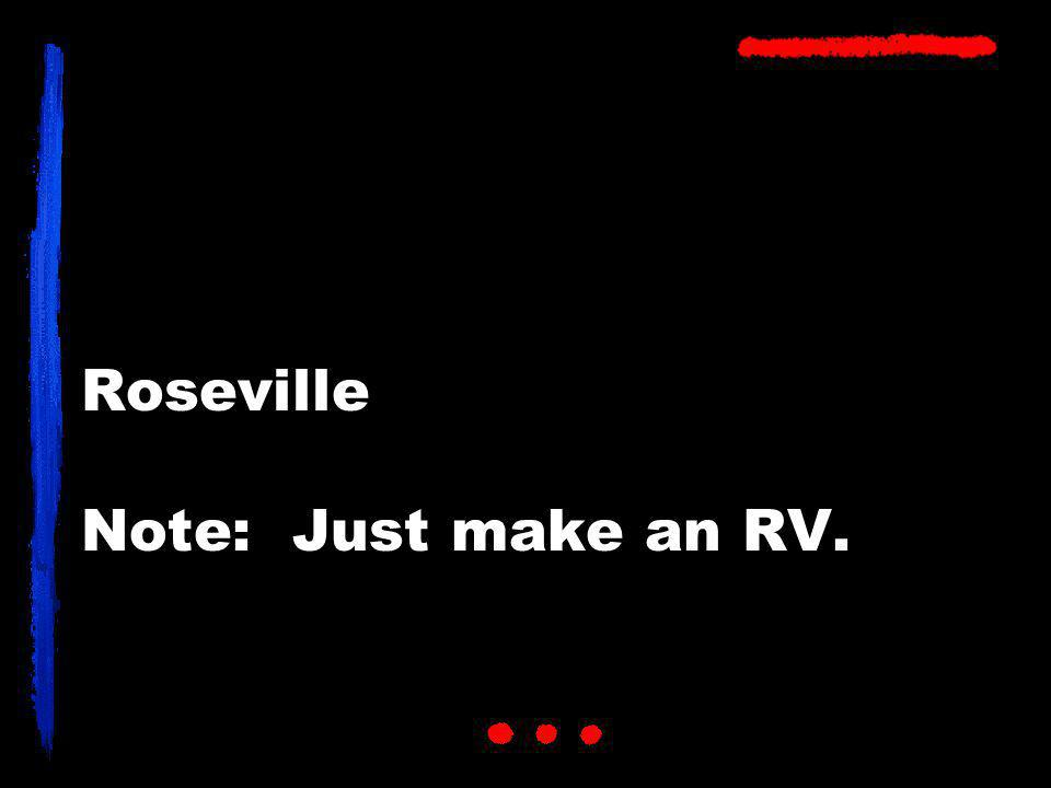 Roseville Note: Just make an RV.