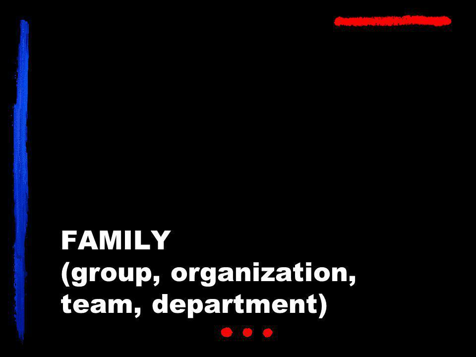 FAMILY (group, organization, team, department)