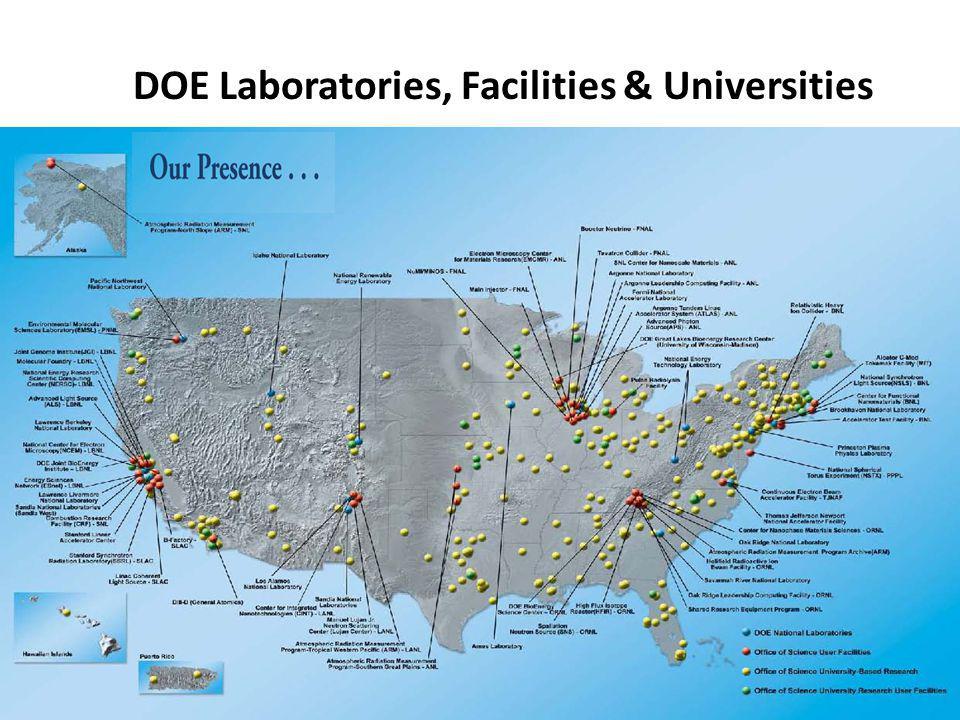 9 DOE Laboratories, Facilities & Universities
