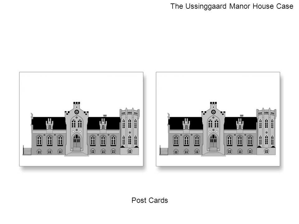 Post Cards The Ussinggaard Manor House Case