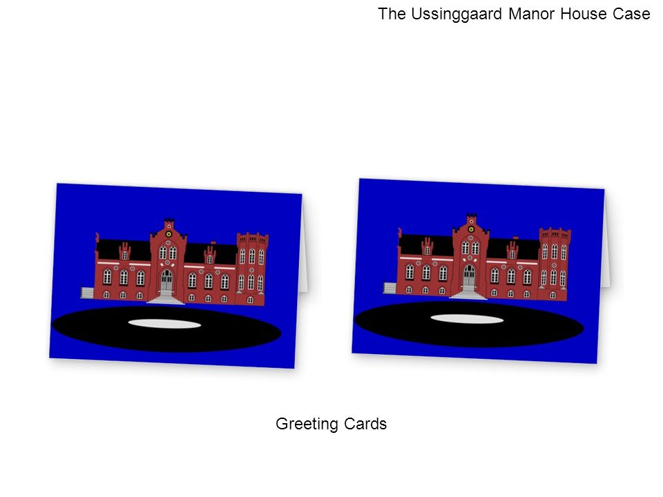 Greeting Cards The Ussinggaard Manor House Case