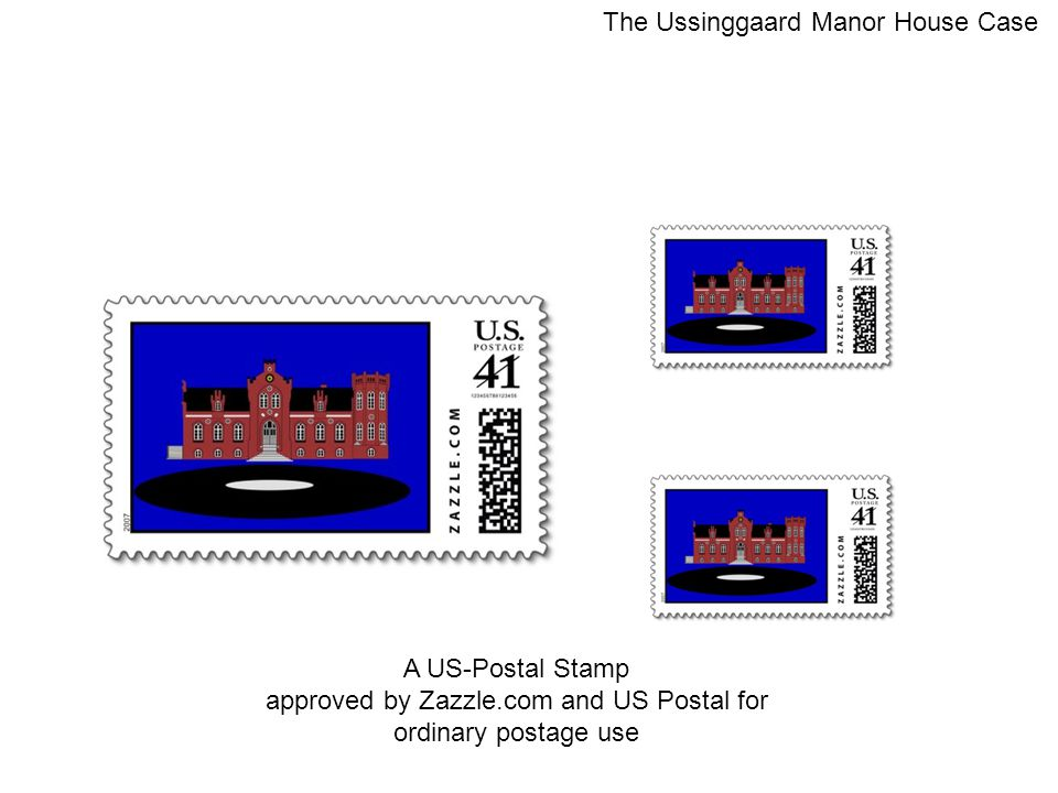 A US-Postal Stamp approved by Zazzle.com and US Postal for ordinary postage use The Ussinggaard Manor House Case