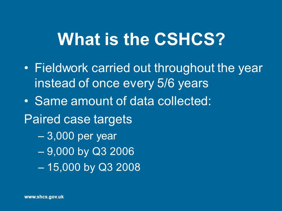 www.shcs.gov.uk What is the CSHCS.