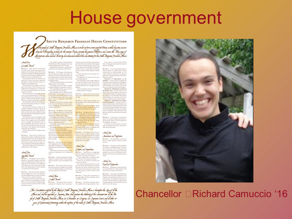House government Chancellor Richard Camuccio 16