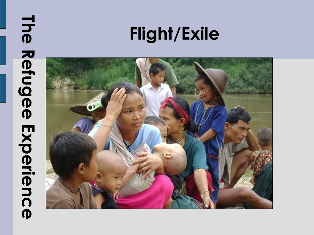 The Refugee Experience Flight/Exile
