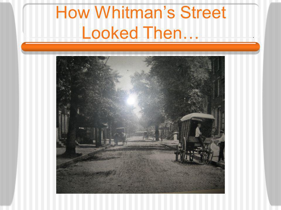 How Whitmans Street Looked Then…