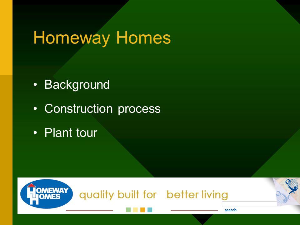 Homeway Homes Background Construction process Plant tour