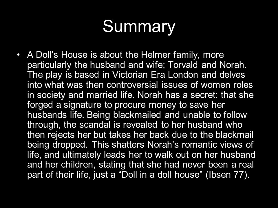 Characters Norah- At the beginning of the novel, Norah is a happy, romantic character, seemingly in love with her husband and life.