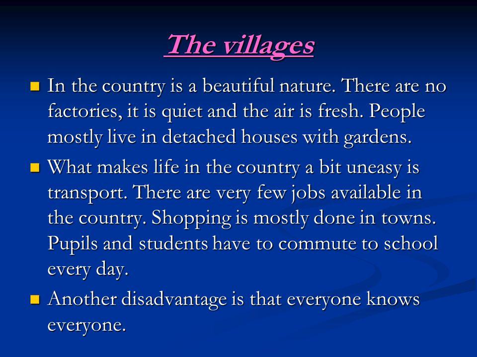 The villages In the country is a beautiful nature.