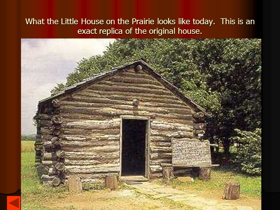 What the Little House on the Prairie looks like today. This is an exact replica of the original house.