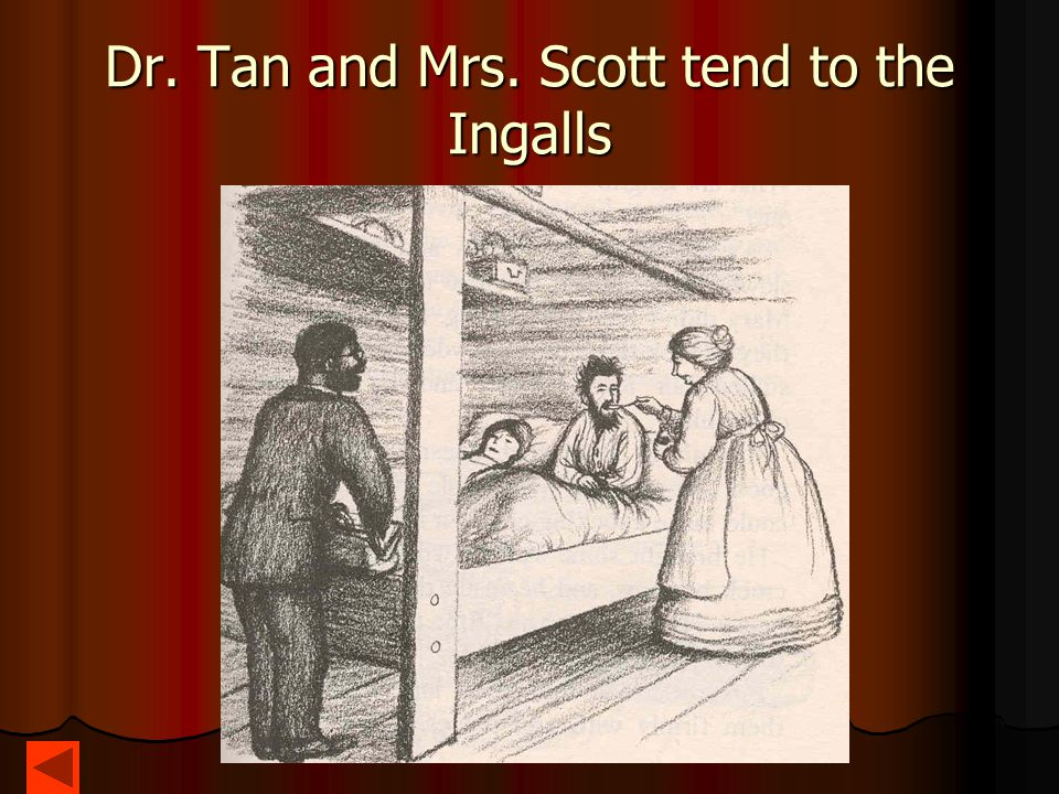 Dr. Tan and Mrs. Scott tend to the Ingalls