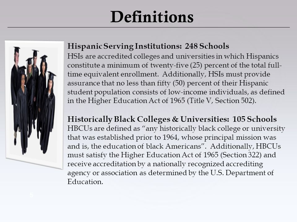 6 Tribal Colleges & Universities: 36 Schools TCUs are institutions cited in the Equity in Educational Land-Grant Status Act of 1994 (Section 532).