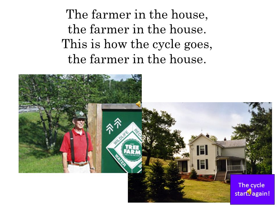 The builder sells the house to the farmer and his family. This is how the cycle goes, the builder sells the house. What happens next?