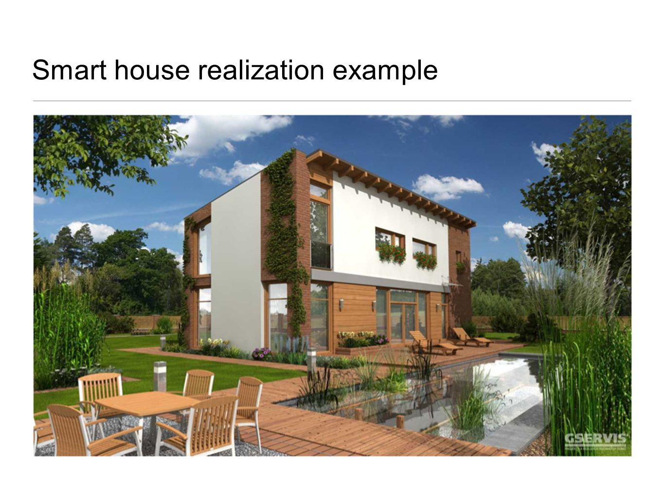 Smart house realization example