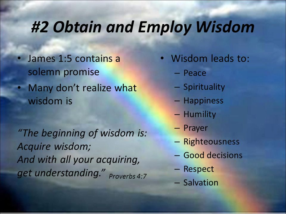#1 Realize we Change our Families only by Changing Ourselves #2 Obtain Wisdom