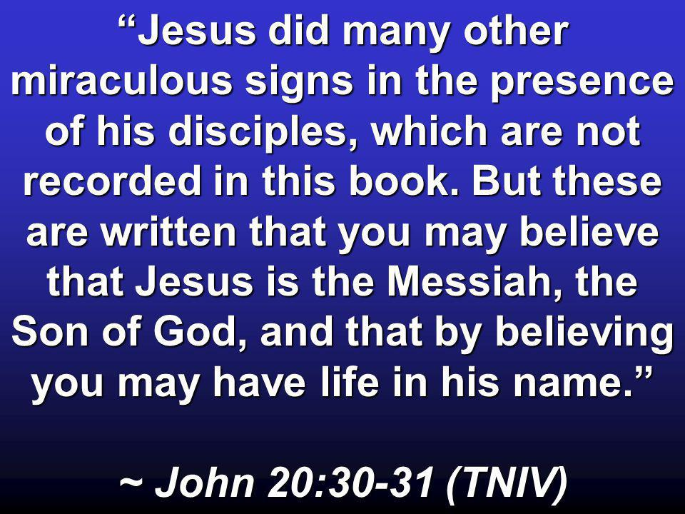 People of Israel, listen to this: Jesus of Nazareth was a man accredited by God to you by miracles, wonders and signs, which God did among you through him, as you yourselves know.