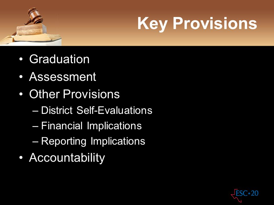 Student Population/ Group: STAAR Alternate Must be redeveloped during 2013- 2014 and the redevelopment cannot require the teacher to prepare tasks or materials STAAR Alternate will stay as is 2013- 14; and New STAAR Alternate must be administered no later than 2014-2015