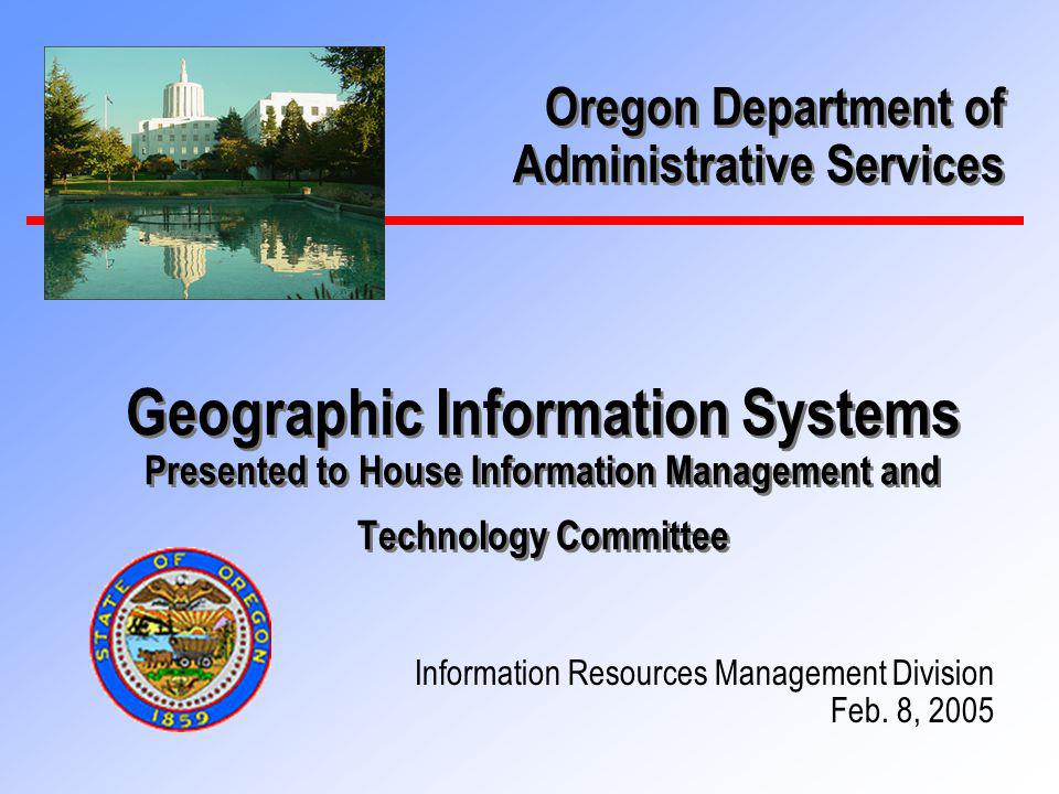2 Todays Agenda n Background – Geographic Information Systems (GIS) in Oregon n What is GIS and Why is it Needed.