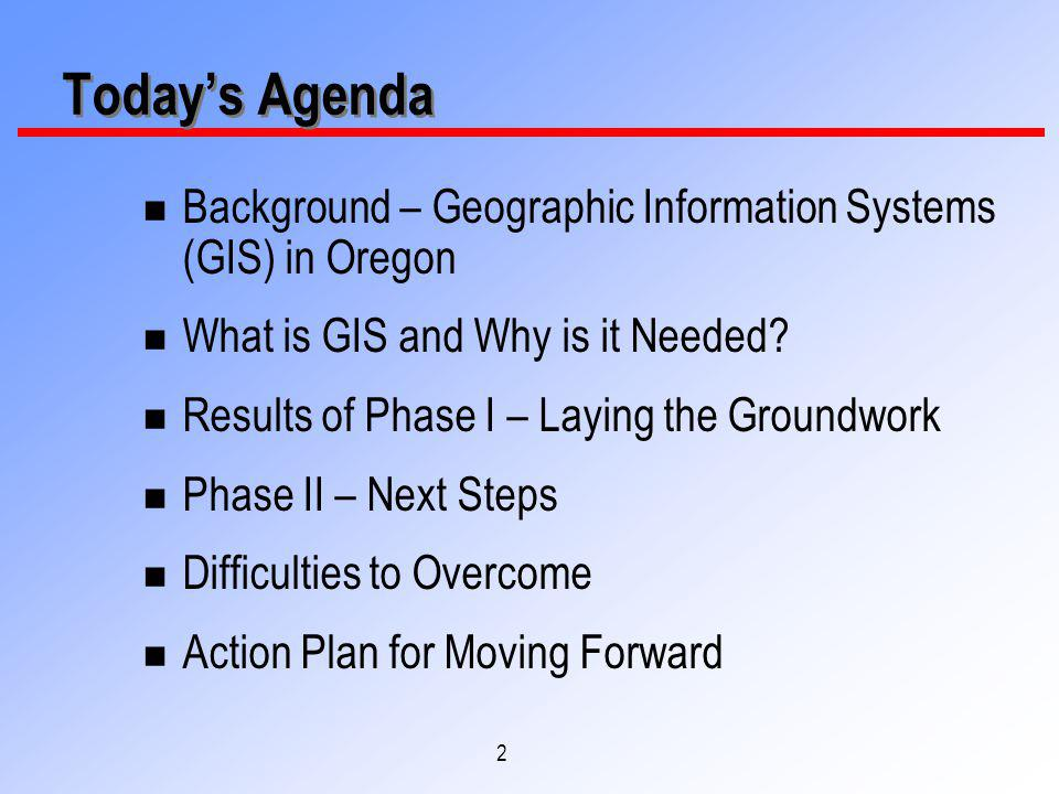 3 Background – GIS in Oregon n The GIS office is located within the Information Resources Management Division of the Dept.