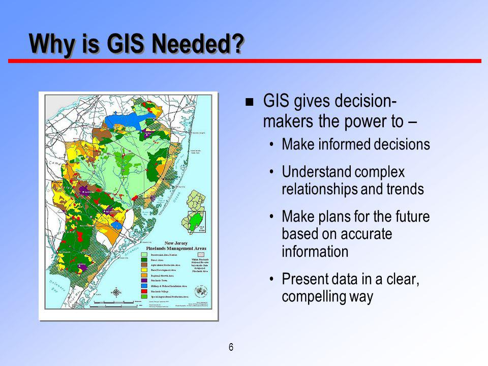 6 Why is GIS Needed.