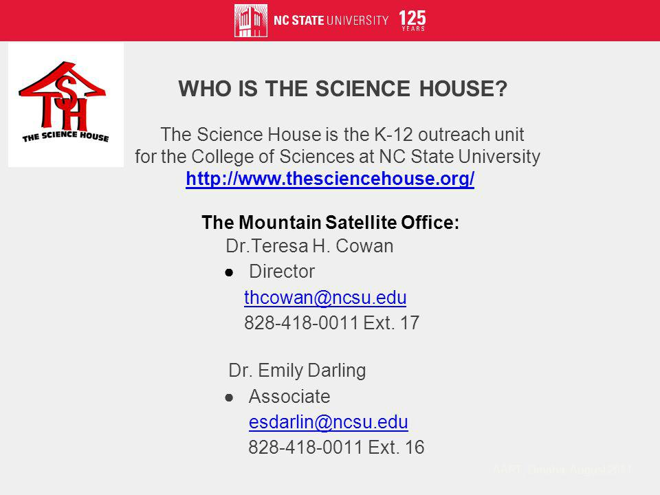 WHAT DOES THE SCIENCE HOUSE VALUE.