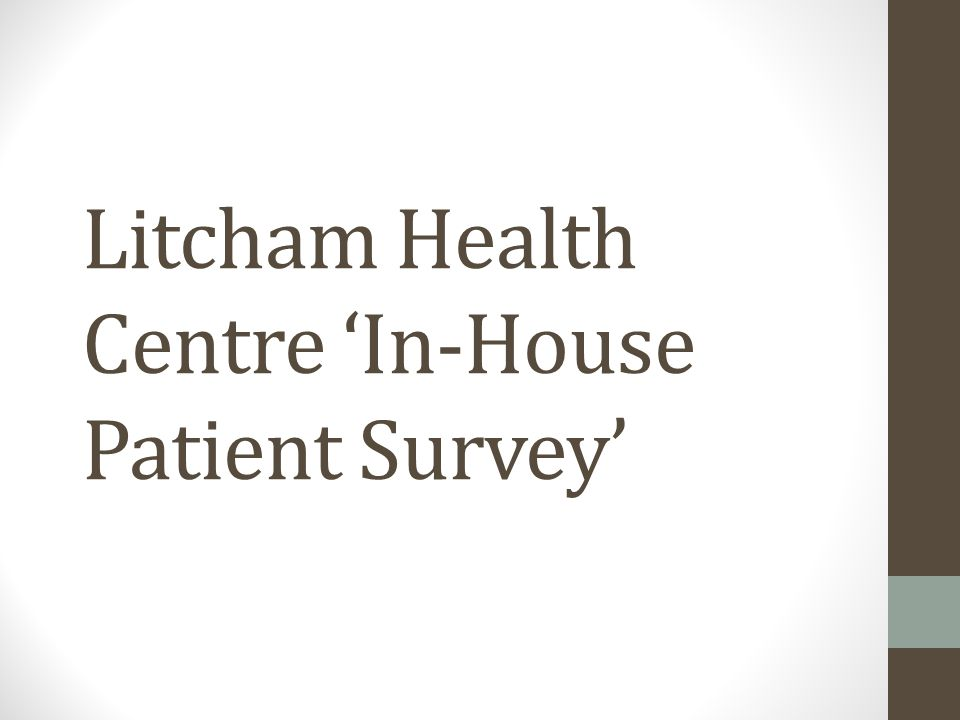 Litcham Health Centre In-House Patient Survey