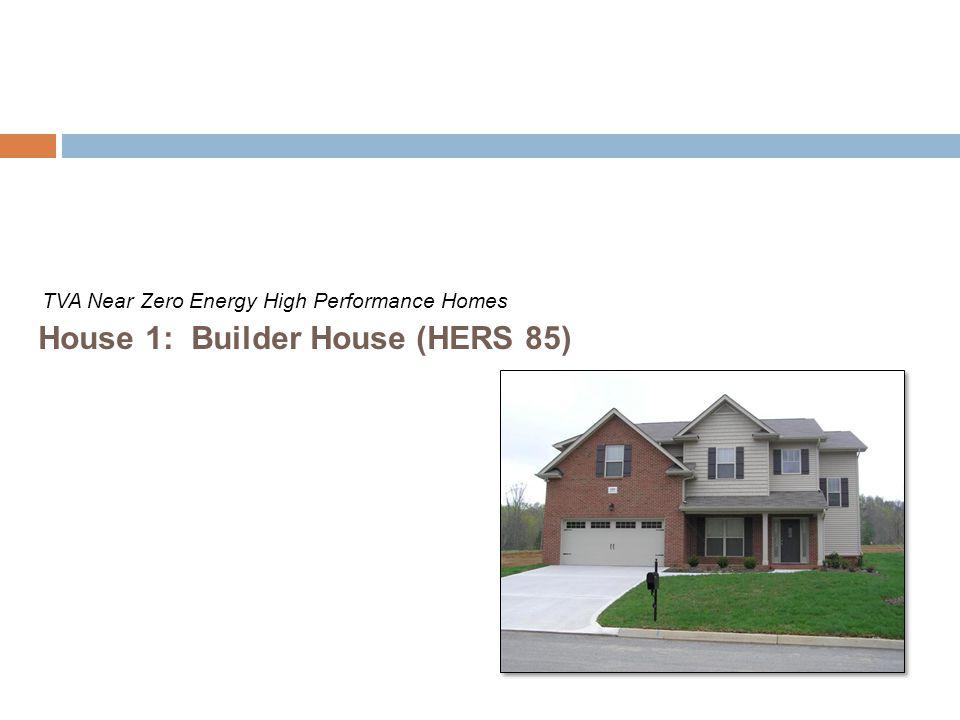 House 1: Builder House (HERS 85) TVA Near Zero Energy High Performance Homes
