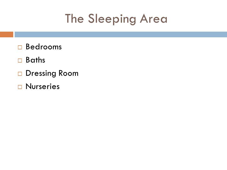 The Sleeping Area Bedrooms Baths Dressing Room Nurseries