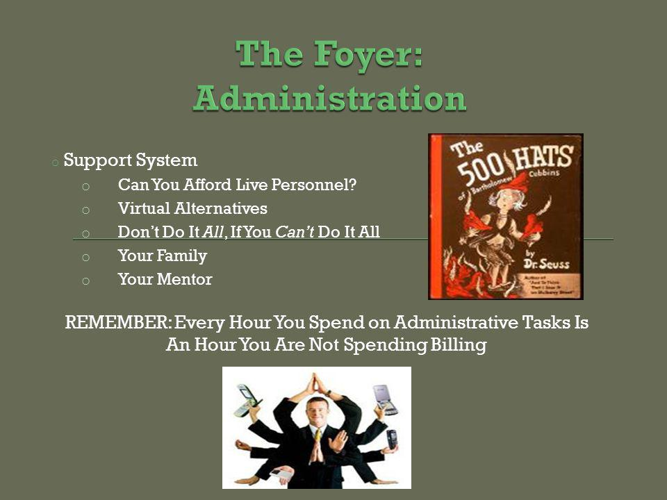 o Support System o Can You Afford Live Personnel.
