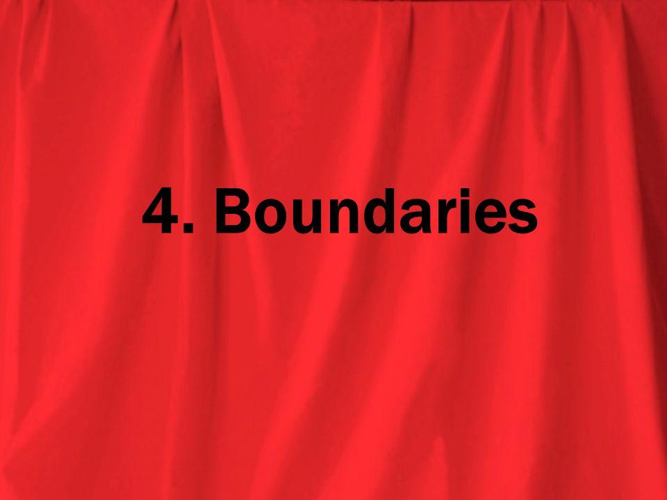 4. Boundaries