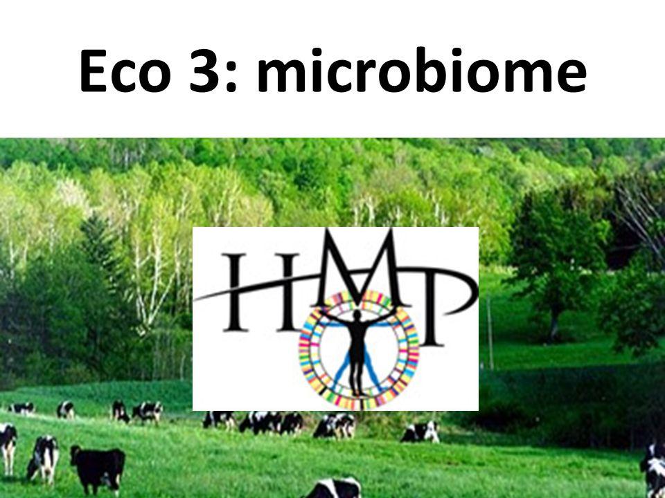 Eco 3: microbiome