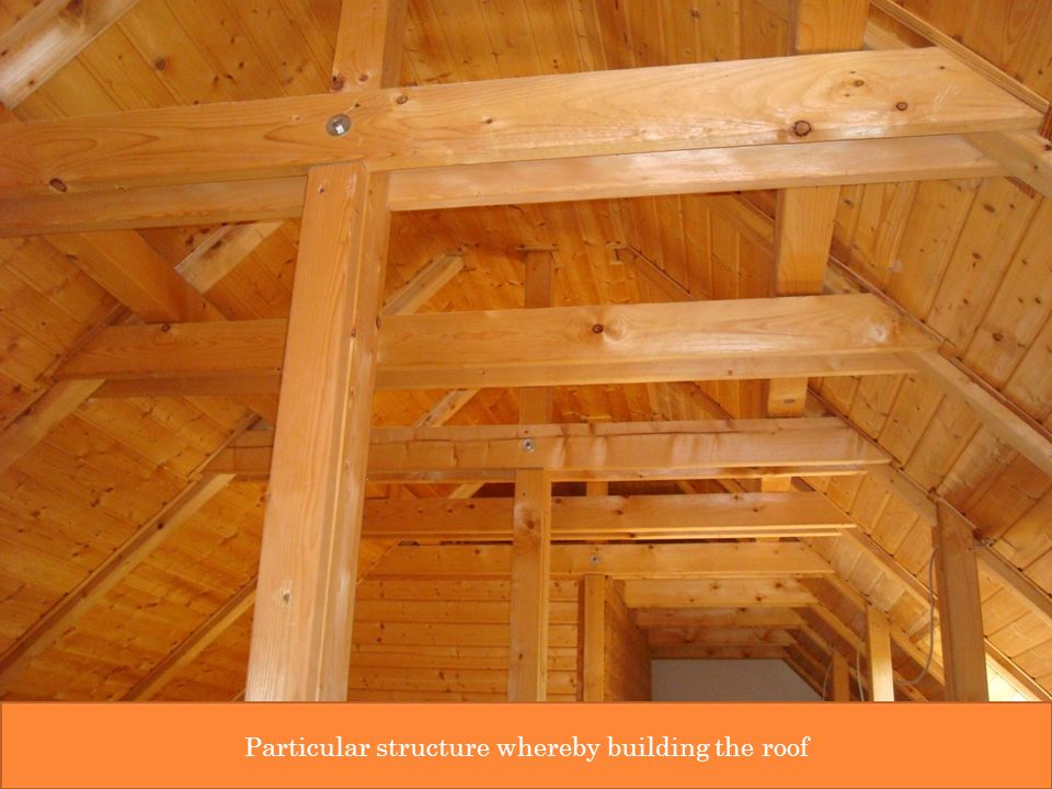 Particular structure whereby building the roof