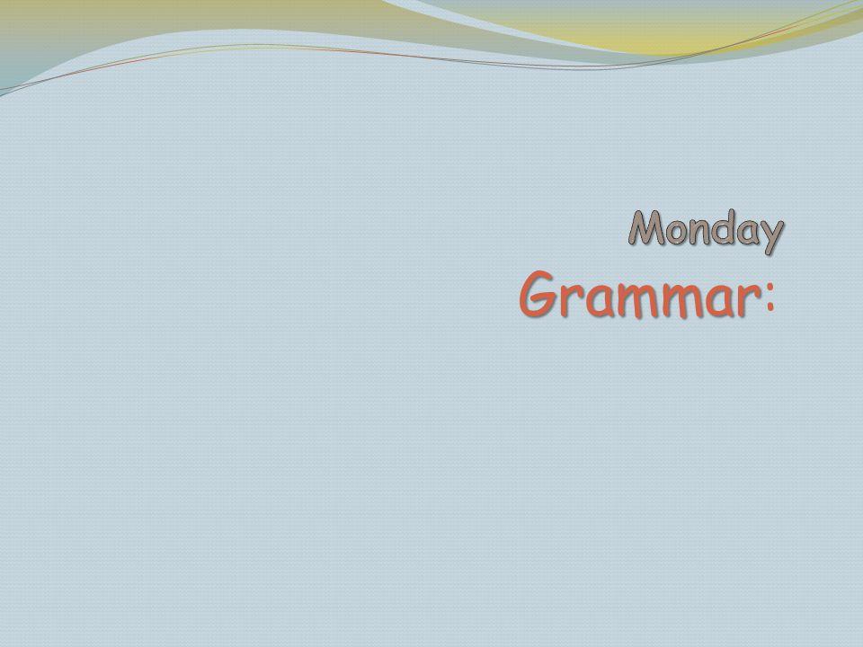 Grammar Grammar: