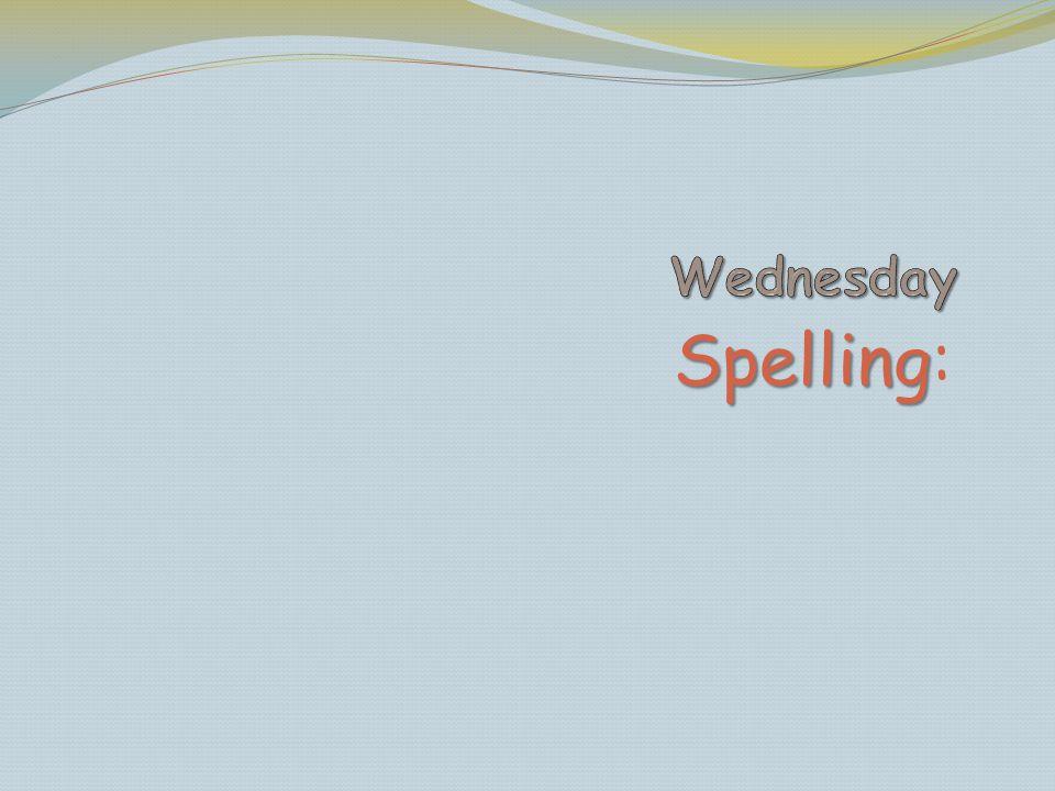 Spelling Spelling: