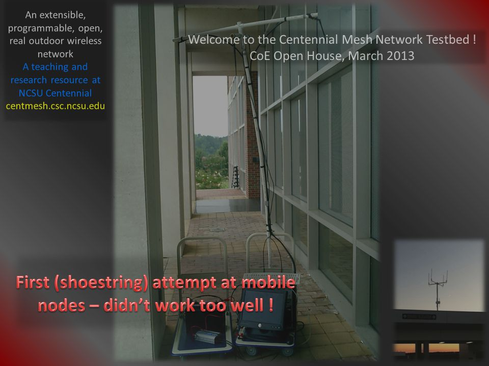 Welcome to the Centennial Mesh Network Testbed .