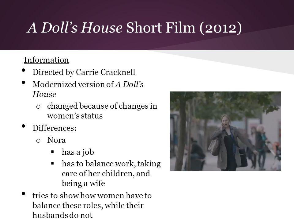 A Dolls House Short Film (2012) Information Directed by Carrie Cracknell Modernized version of A Dolls House o changed because of changes in womens st