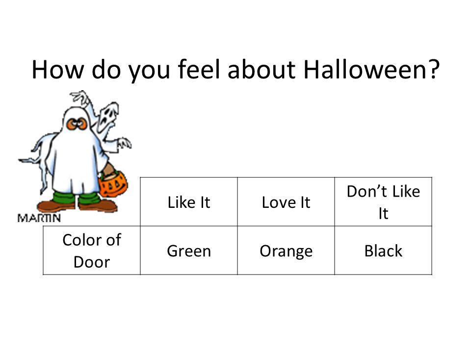 How do you feel about Halloween Like ItLove It Dont Like It Color of Door GreenOrangeBlack