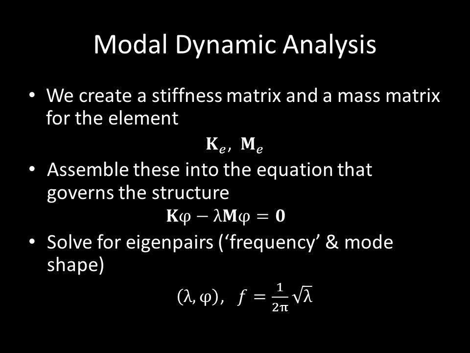 Modal Dynamic Analysis