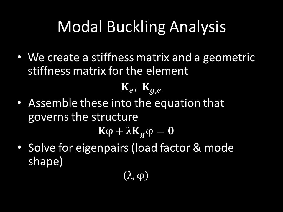 Modal Buckling Analysis