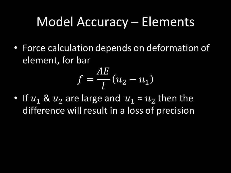 Model Accuracy – Elements