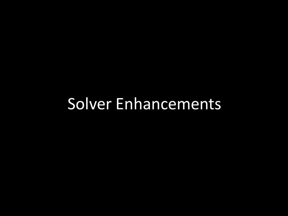 Solver Enhancements