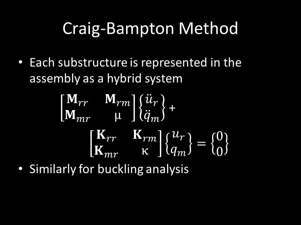 Craig-Bampton Method