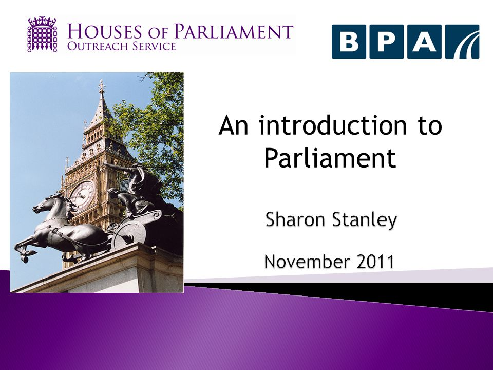 An introduction to Parliament