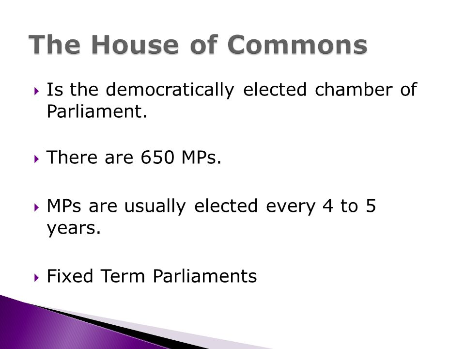 Is the democratically elected chamber of Parliament.