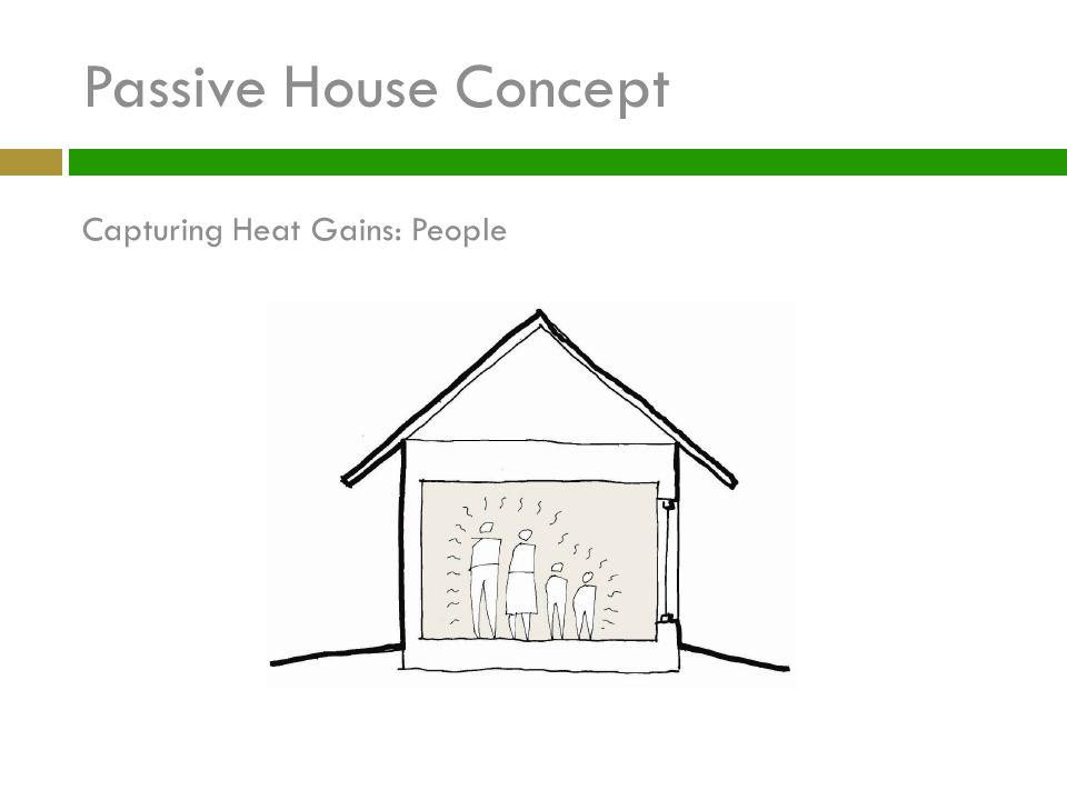 Passive House Concept Capturing Heat Gains: People